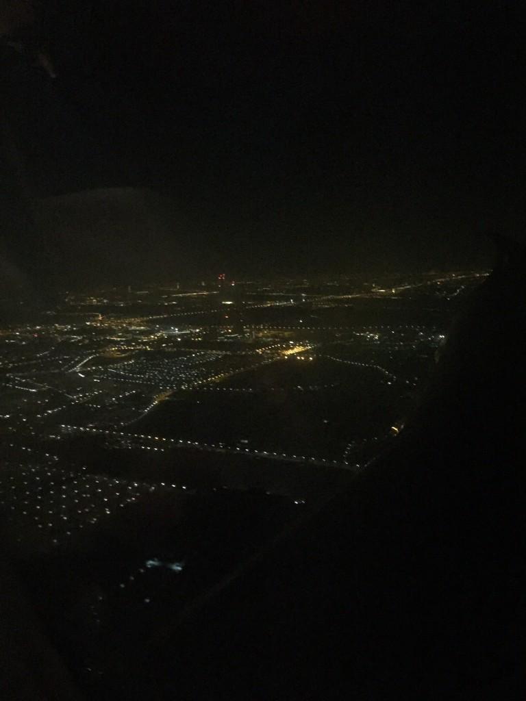 Ausblick über Wien beim Landeanflug vom Flugzeug aus.